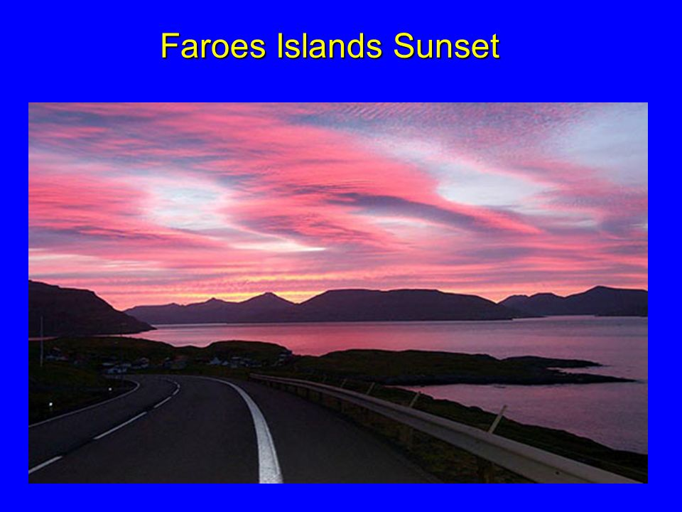 Faroes Islands Sunset