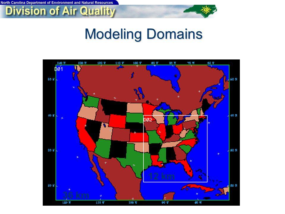Modeling Domains 36 km 12 km
