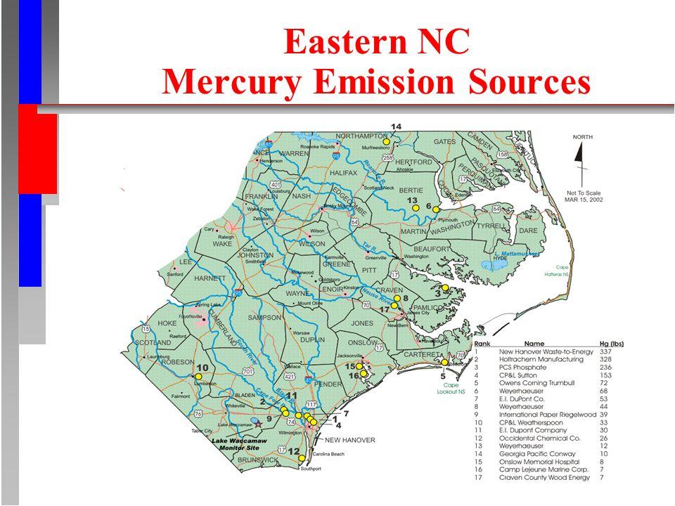 Eastern NC Mercury Emission Sources