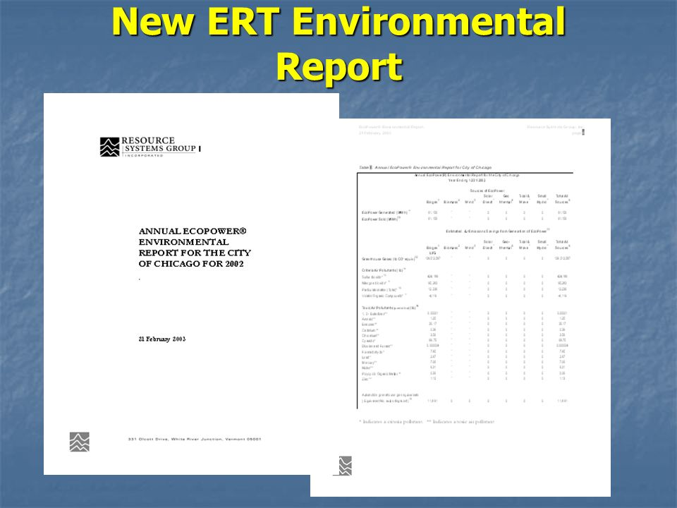 New ERT Environmental Report Prepared under a Grant from the Great Lakes Protection Fund