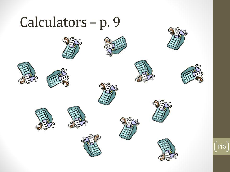 Calculators – p. 9 115