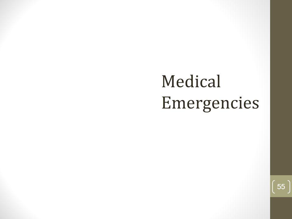 Medical Emergencies 55