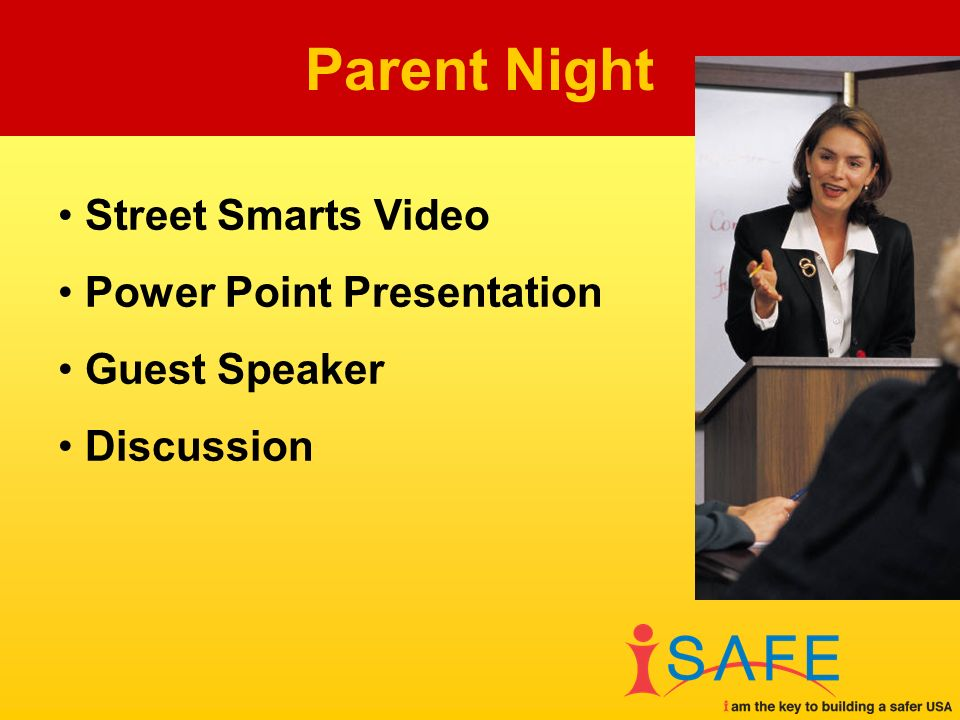 Street Smarts Video Power Point Presentation Guest Speaker Discussion Parent Night