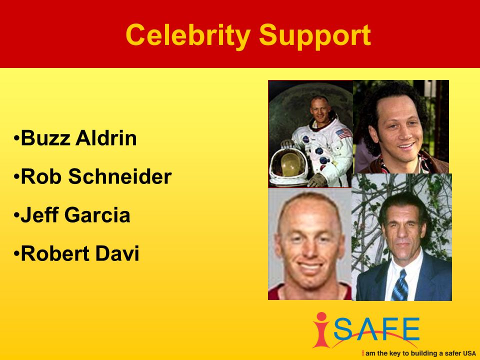 Buzz Aldrin Rob Schneider Jeff Garcia Robert Davi Celebrity Support