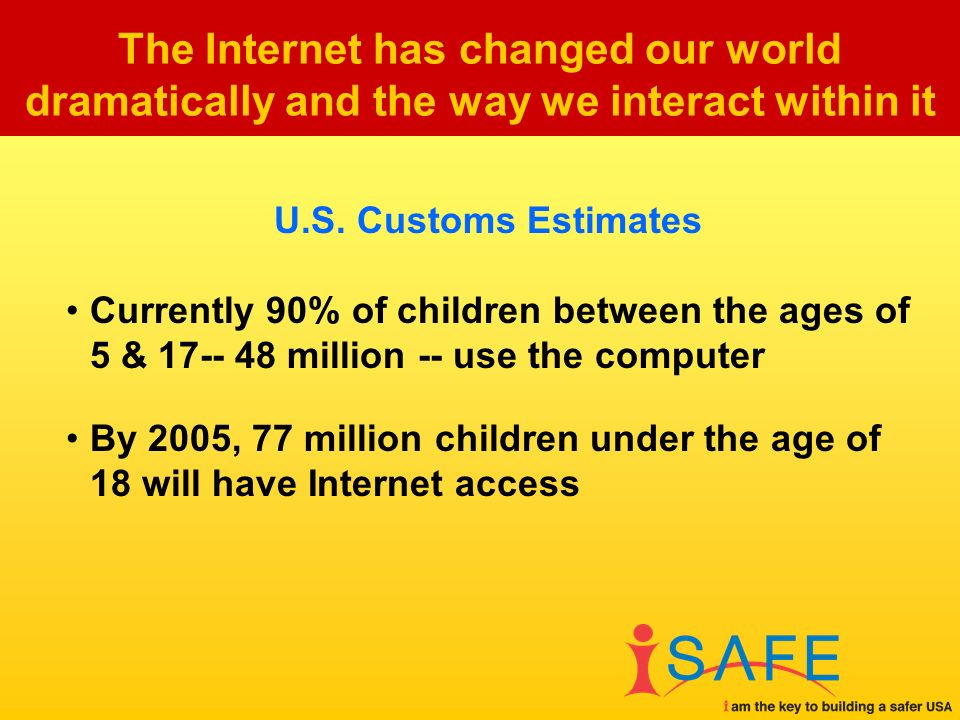 The Internet has changed our world dramatically and the way we interact within it U.S.