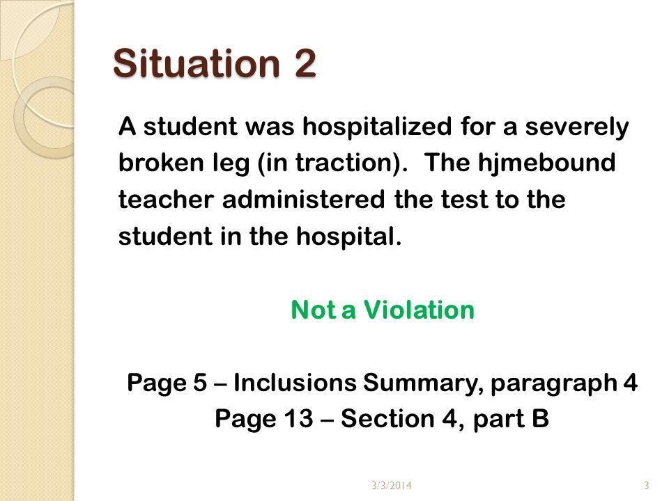 Situation 3 Two students had similar answers, but had not copied.