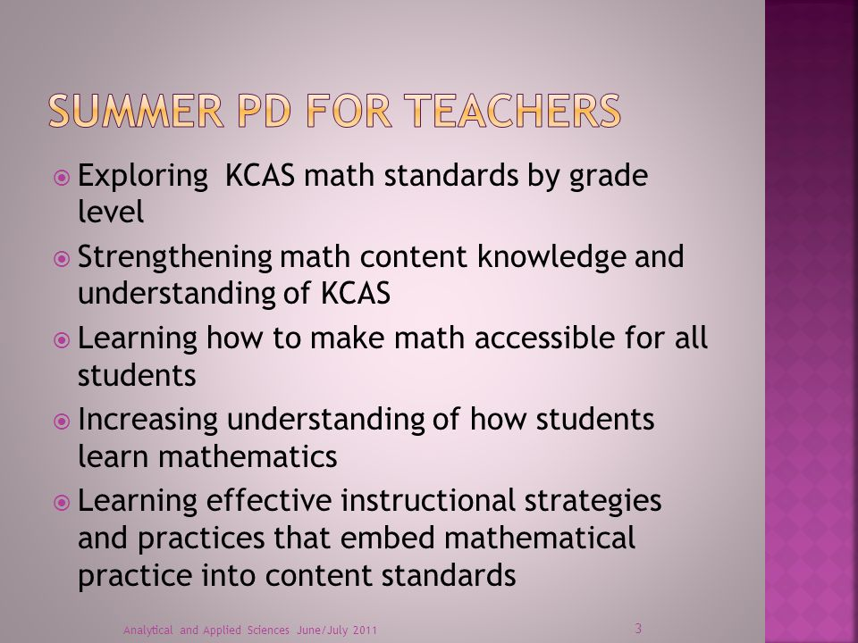 2 CHETL CONTENT STANDARDS MATHEMATICAL PRACTICES HOW PEOPLE LEARN
