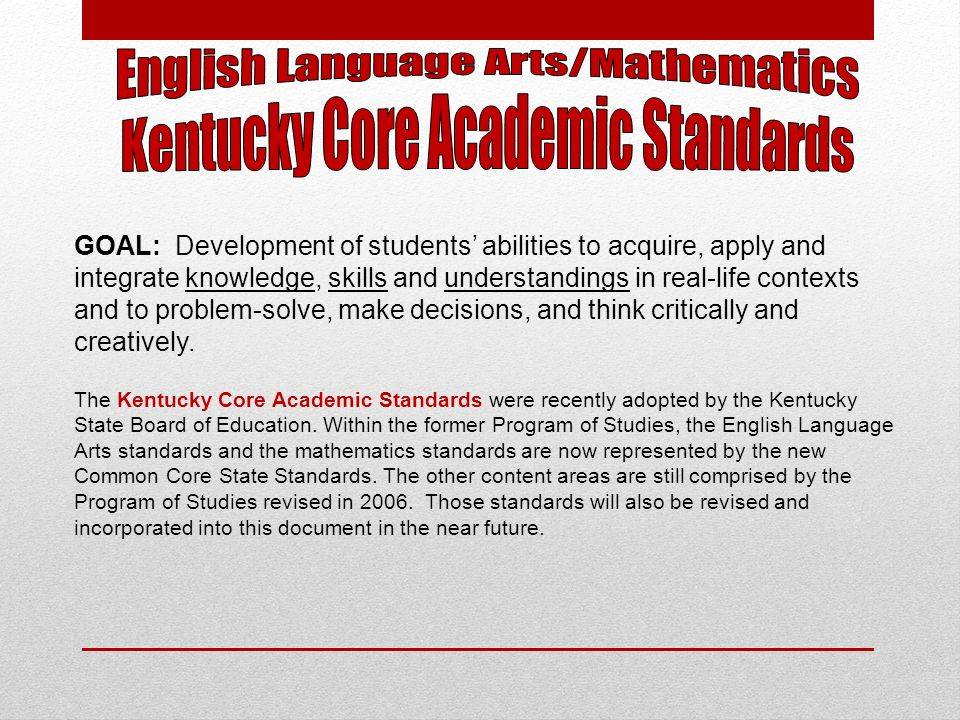 The Common Core State Standards (CCSS)for Mathematics are organized by grade level in Grades K–8.