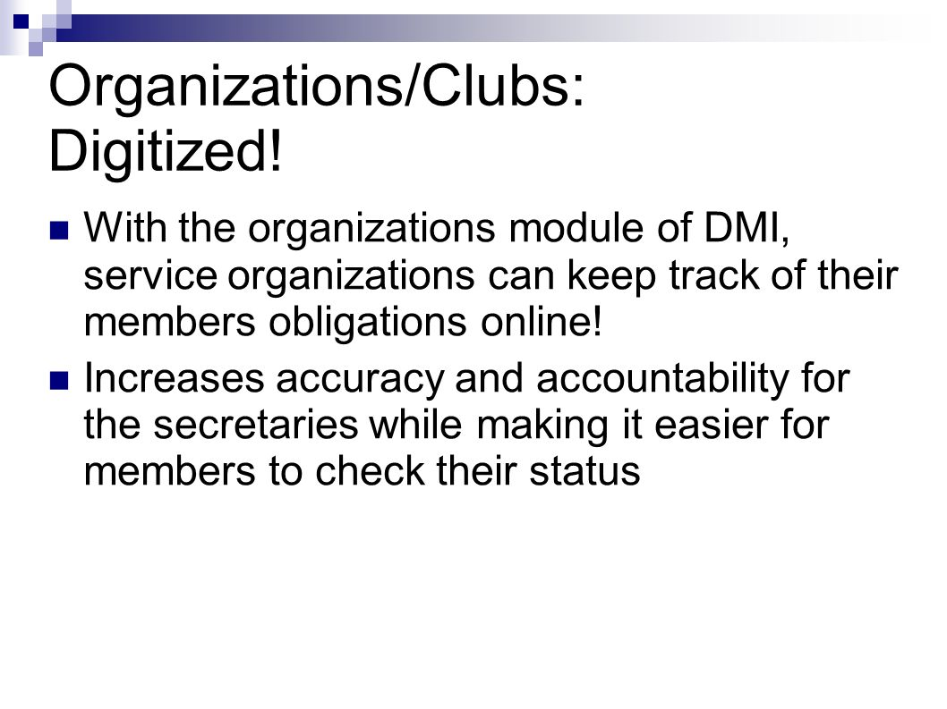 Organizations/Clubs: Digitized.