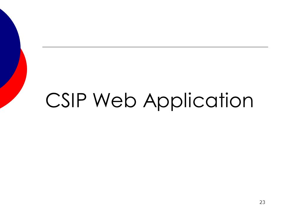 23 CSIP Web Application