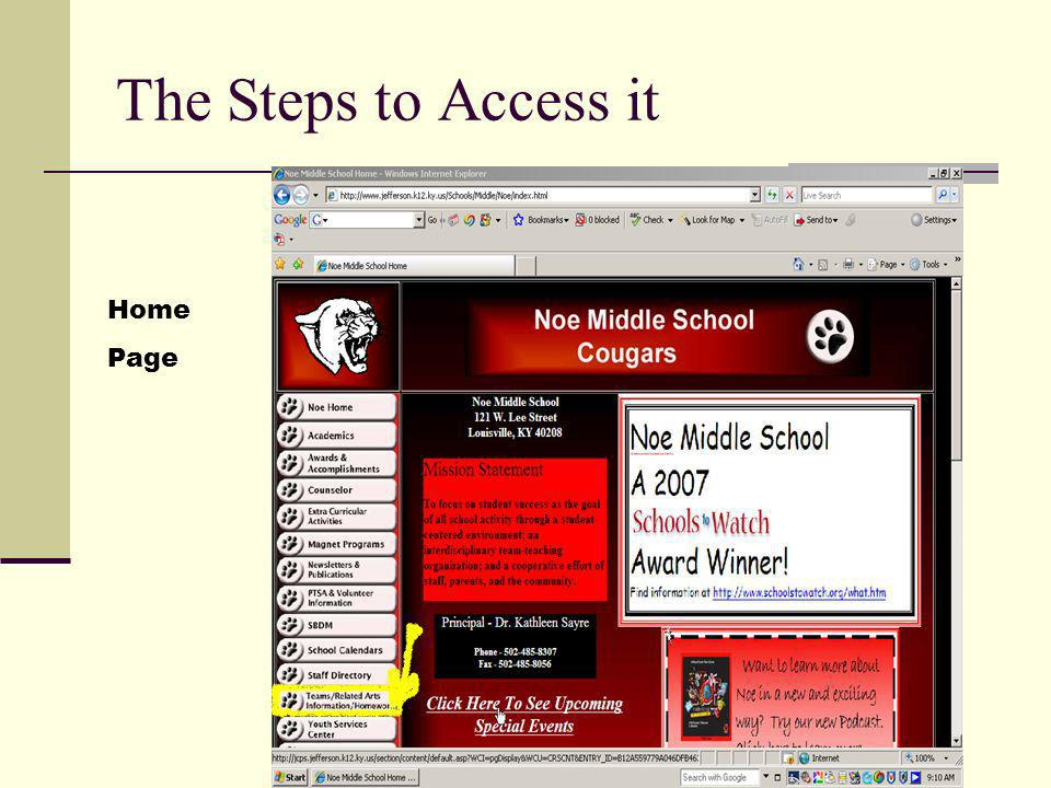 The Steps to Access it Home Page