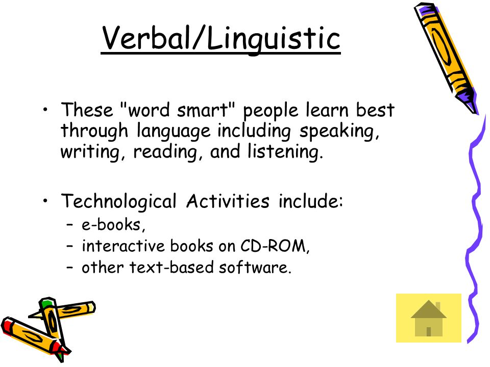 Verbal/Linguistic These
