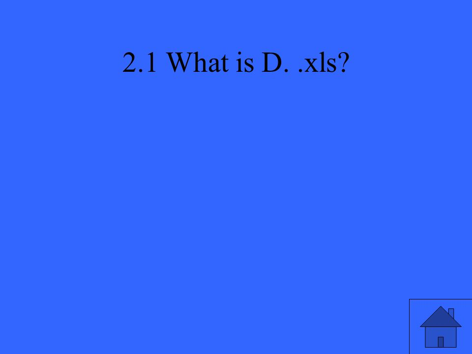 2.1 What is D..xls?