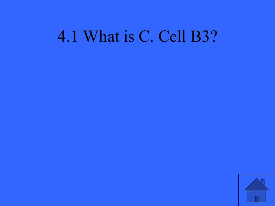 4.1 What is C. Cell B3?