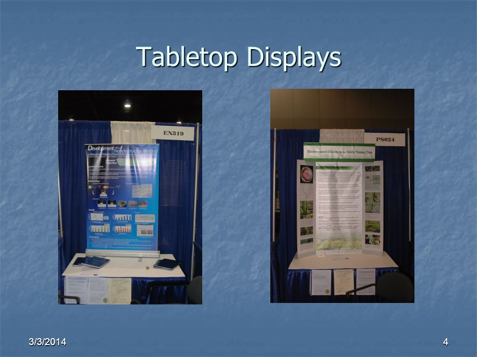 3/3/20144 Tabletop Displays