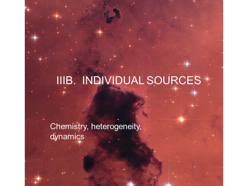 IIIB. INDIVIDUAL SOURCES Chemistry, heterogeneity, dynamics