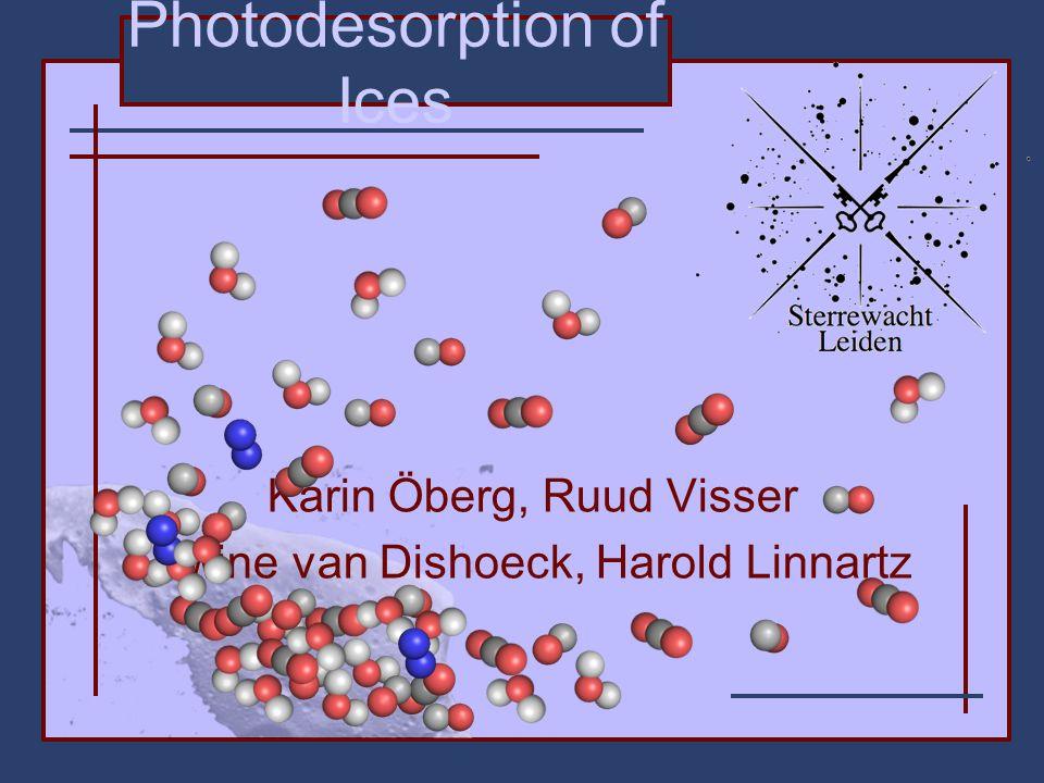 Photodesorption of Ices Karin Öberg, Ruud Visser Ewine van Dishoeck, Harold Linnartz