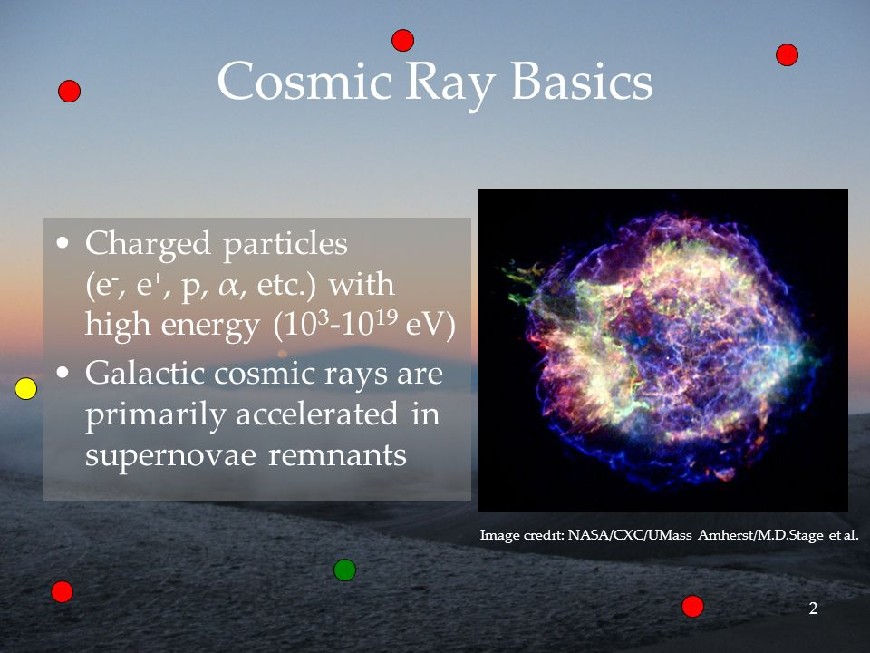 3 Background Cosmic rays have several impacts on the interstellar medium, all of which produce some observables –Ionization: molecules CR + H 2 H 2 + + e - + CR H 2 + + H 2 H 3 + + H –Spallation: light element isotopes [p, α] + [C, N, O] [ 6 Li, 7 Li, 9 Be, 10 B, 11 B] –Nuclear excitation: gamma rays [p, α] + [C, O] [C *, O * ] γ (4.4, 6.13 MeV)