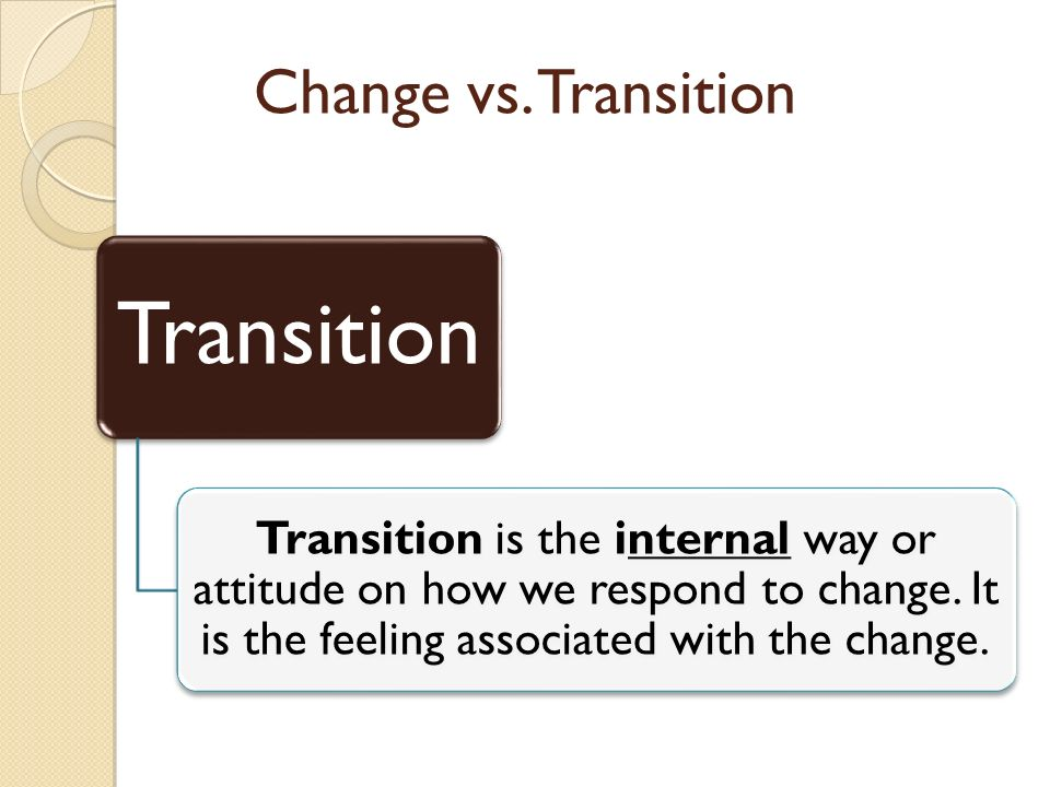 Change vs.