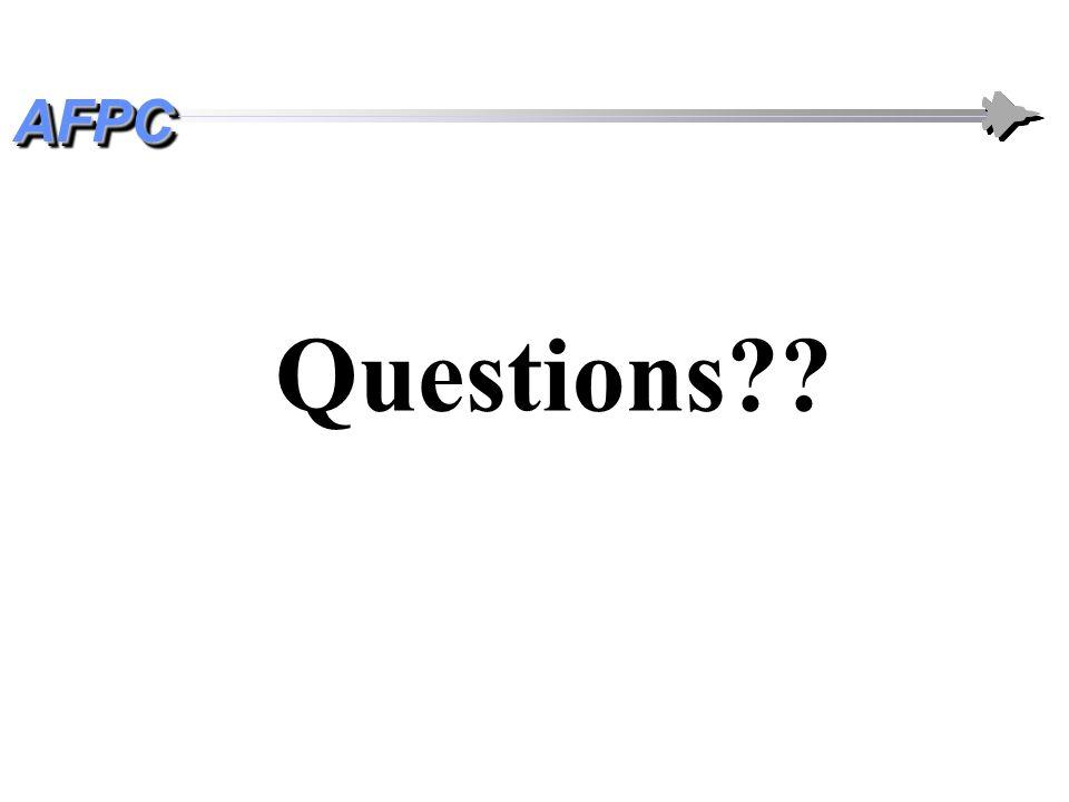 AFPCAFPC Questions??