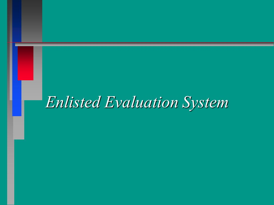 References n n AFI 36-2403, The Enlisted Evaluation System (EES) n n AFPAM 36-2627, Airman and NCO Performance Feedback System n n AFPAM 36-2241 Vol 1, Promotion Fitness Examination (PFE) Study Guide n n HQ/AFPC Enlisted Evaluation System Training Guide