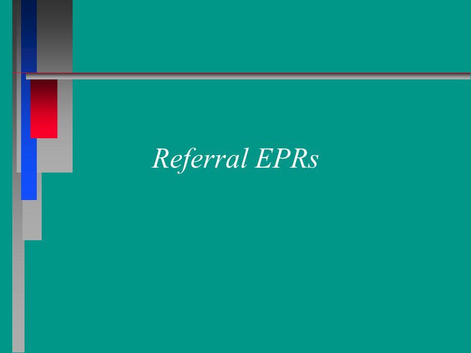 Referral EPRs