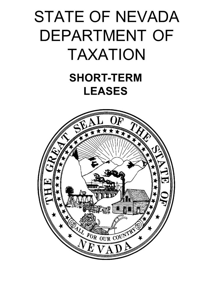 STATE OF NEVADA DEPARTMENT OF TAXATION SHORT-TERM LEASES
