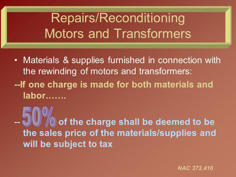 Repairs/Reconditioning Tires Tire retreaders/recappers are RETAILERS.