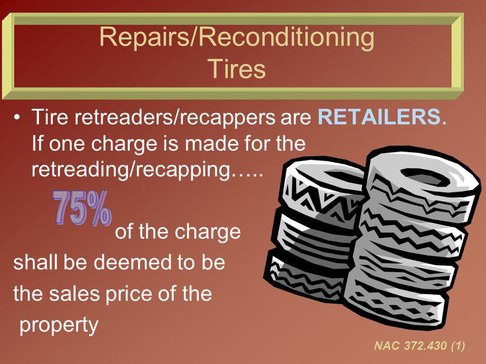 Summary Replacement parts under warranty-no tax if warranty was taxed Well pay your tax ----