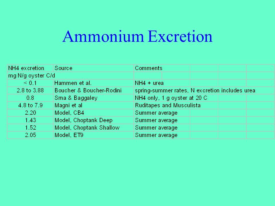 Ammonium Excretion