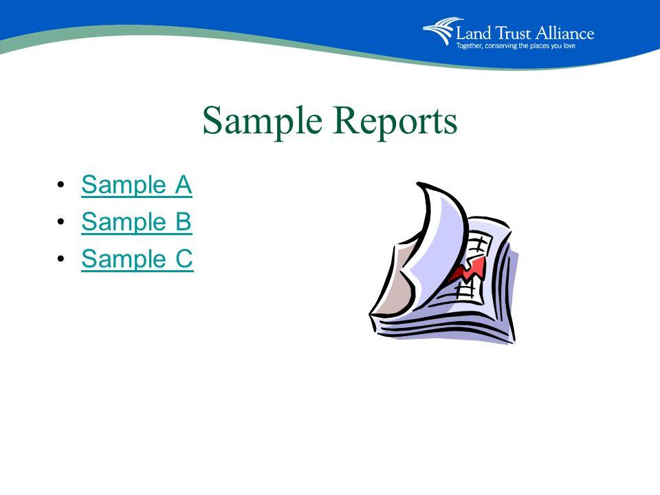 Sample Reports Sample A Sample B Sample C