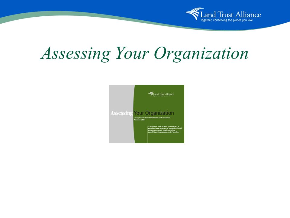 Assessing Your Organization