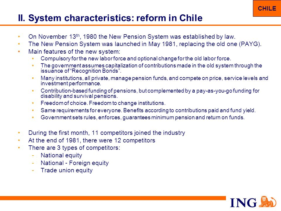 20 II.System characteristics: Pillar I – Reform proposal Current US system is not sustainable, i.e.