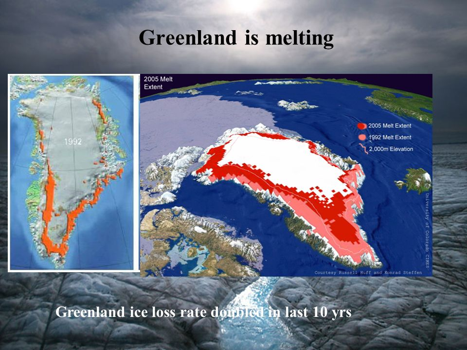 Greenland is melting Greenland ice loss rate doubled in last 10 yrs