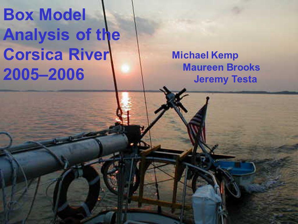 Michael Kemp Maureen Brooks Jeremy Testa Box Model Analysis of the Corsica River 2005–2006