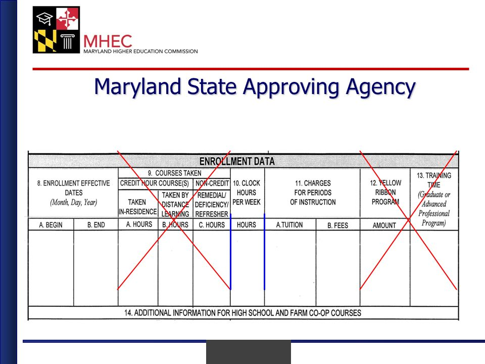 April 2010 Maryland State Approving Agency