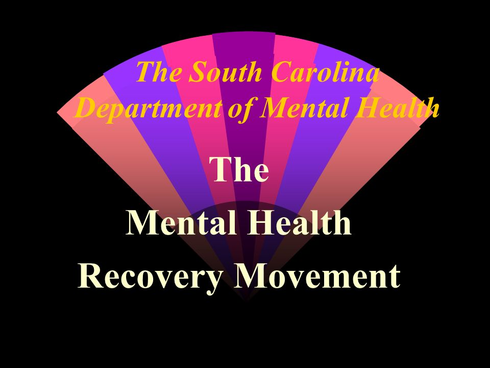 The South Carolina Department of Mental Health The Mental Health Recovery Movement