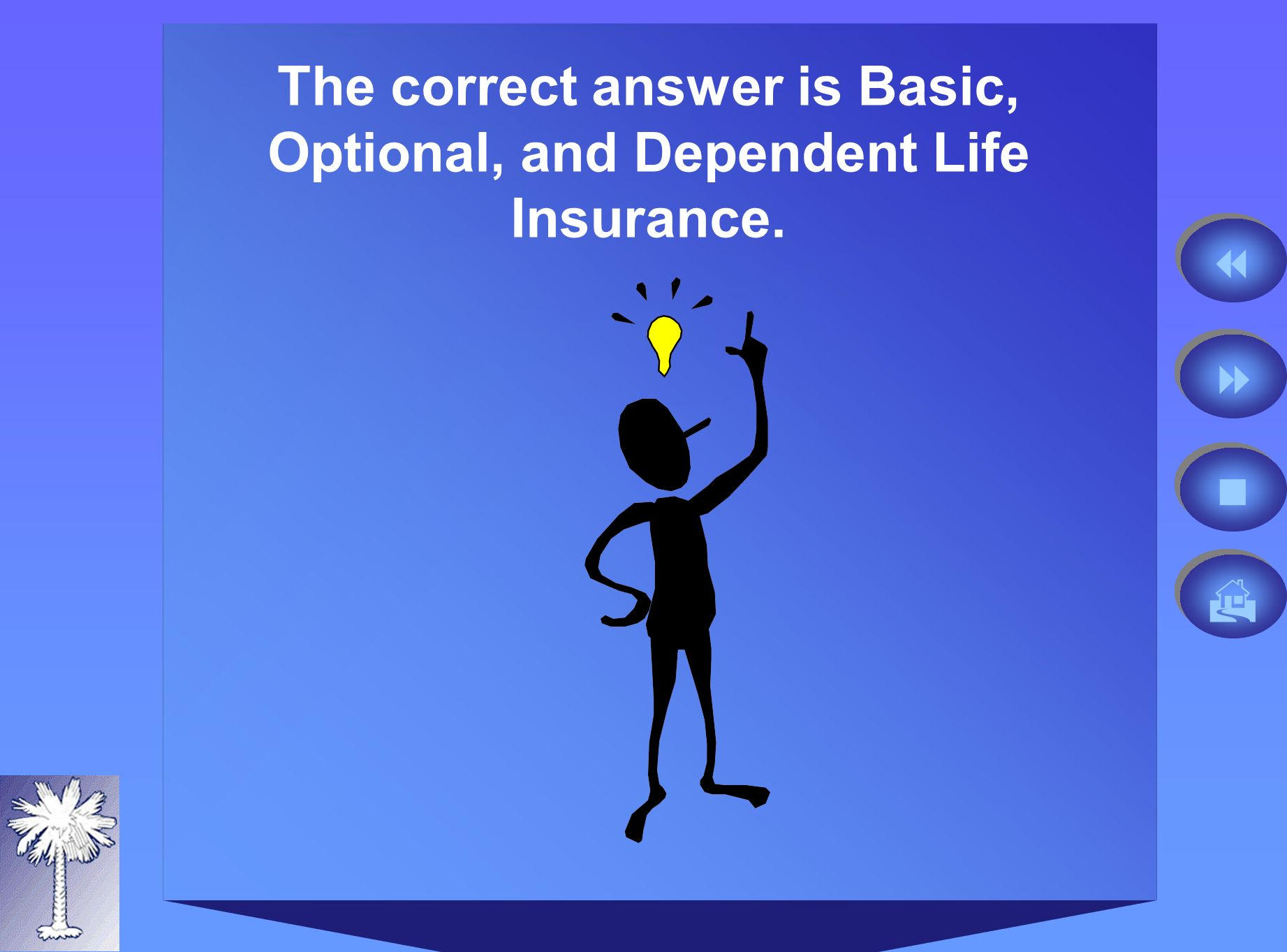 The correct answer is Basic, Optional, and Dependent Life Insurance.