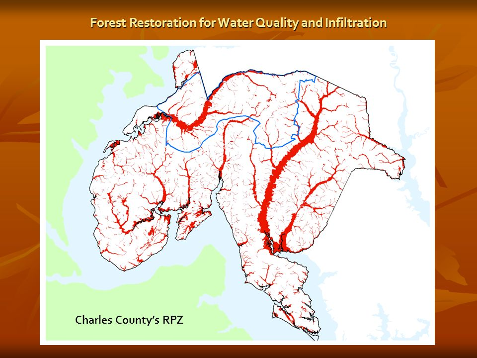 Resource Protection Zone (RPZ) Charles Countys RPZ Forest Restoration for Water Quality and Infiltration