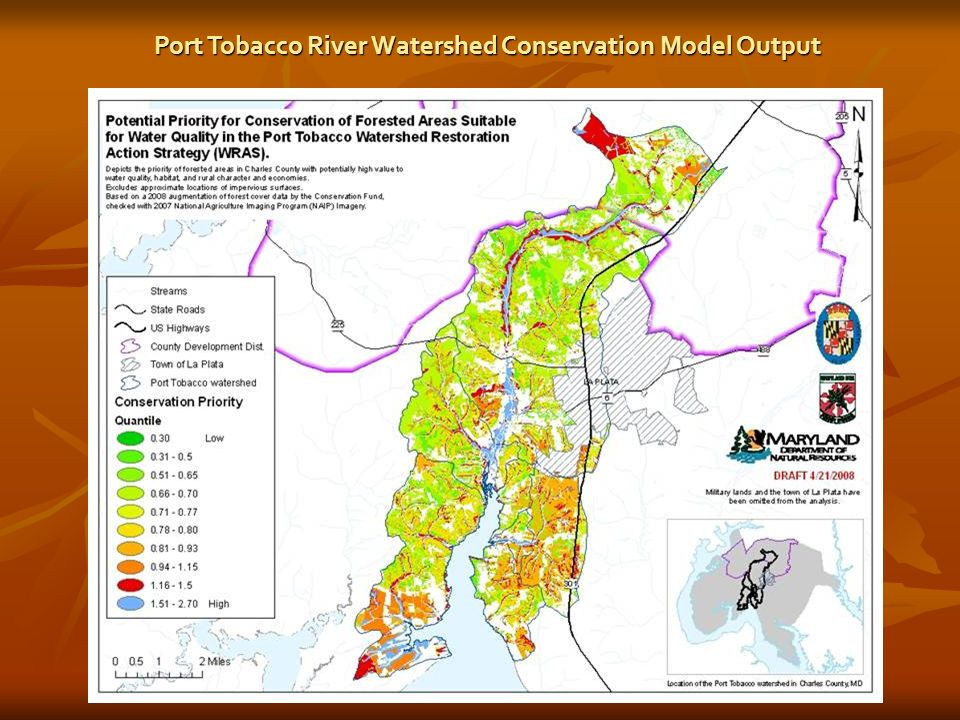 Port Tobacco River Watershed Conservation Model Output
