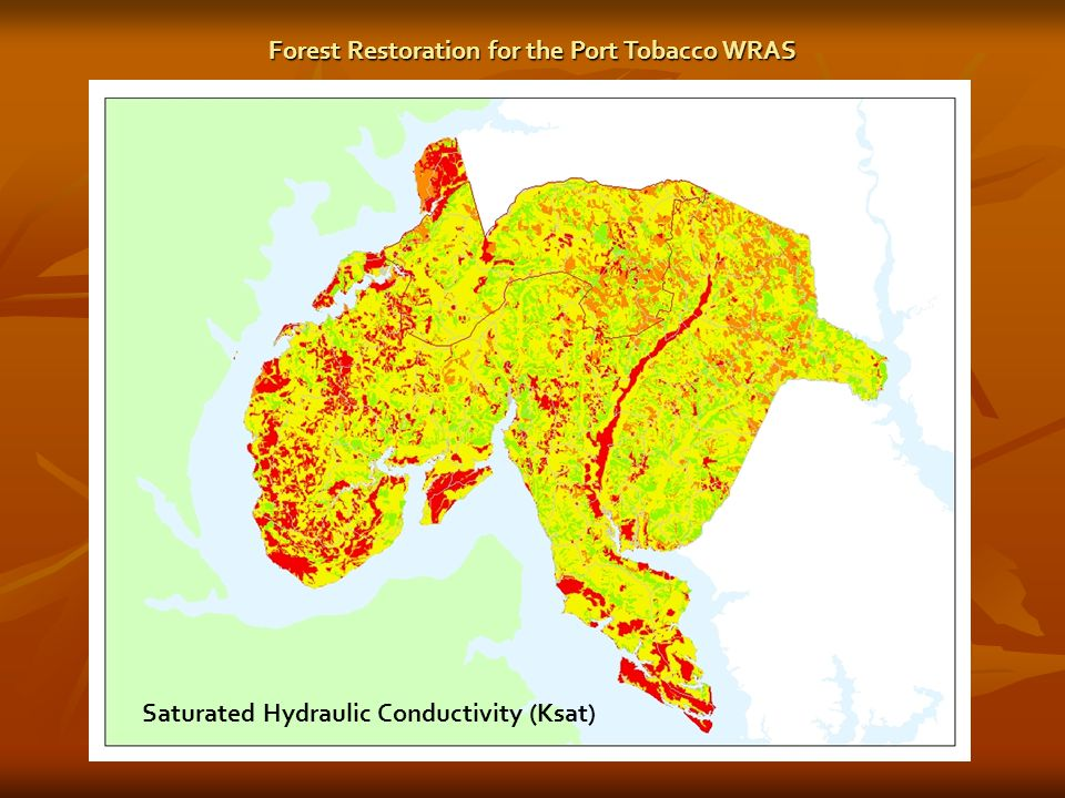 Saturated Hydraulic Conductivity (Ksat) Forest Restoration for the Port Tobacco WRAS