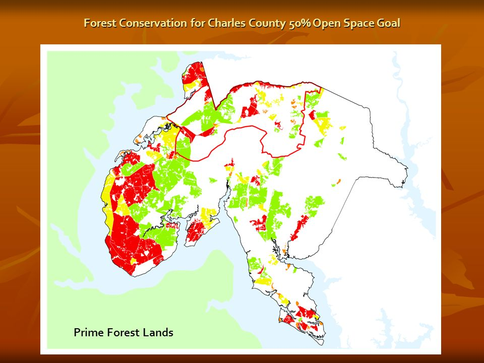 Prime Forest Lands Forest Conservation for Charles County 50% Open Space Goal