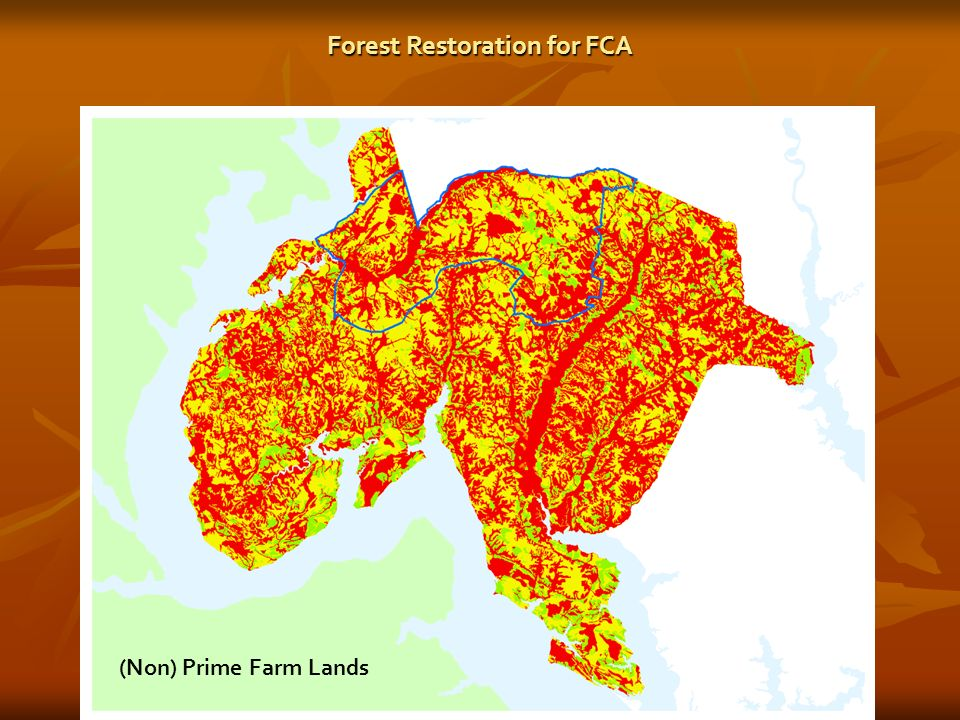 Adjacency to FIDS (Non) Prime Farm Lands Forest Restoration for FCA