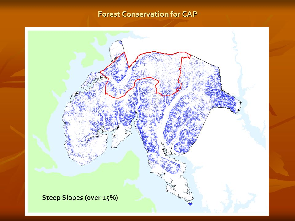 Steep Slopes (0ver 15%) Forest Conservation for CAP