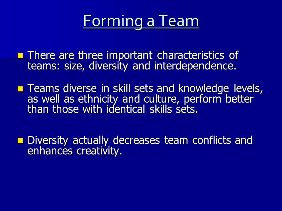 ARE YOU PART OF THE TEAM?