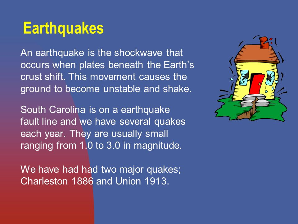 Earthquakes An earthquake is the shockwave that occurs when plates beneath the Earths crust shift.