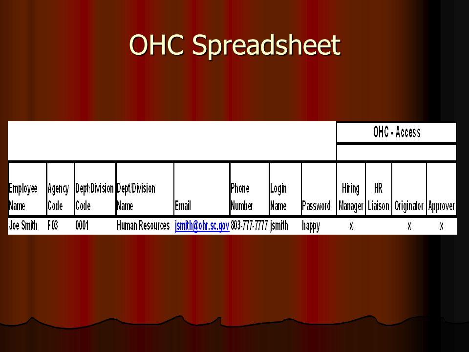OHC Spreadsheet