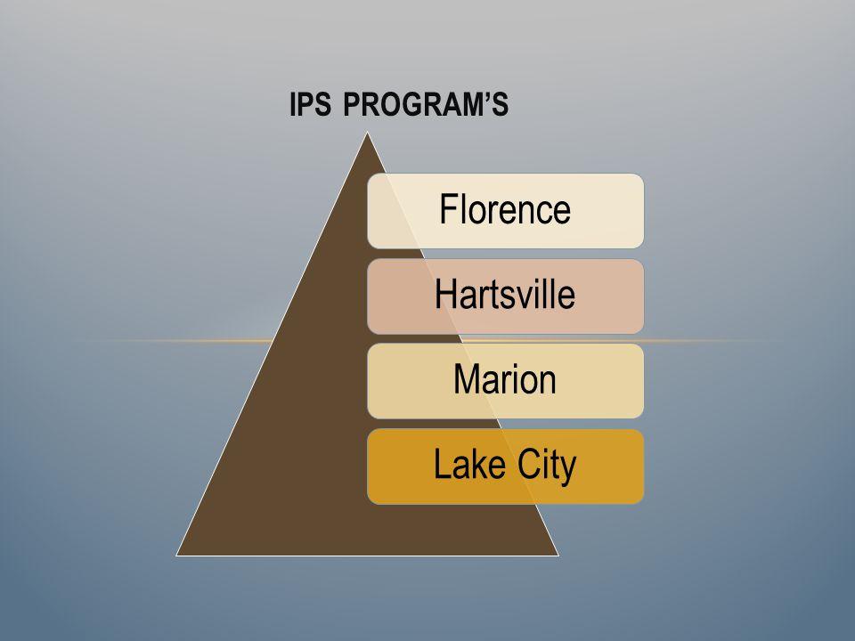IPS PROGRAMS FlorenceHartsvilleMarionLake City
