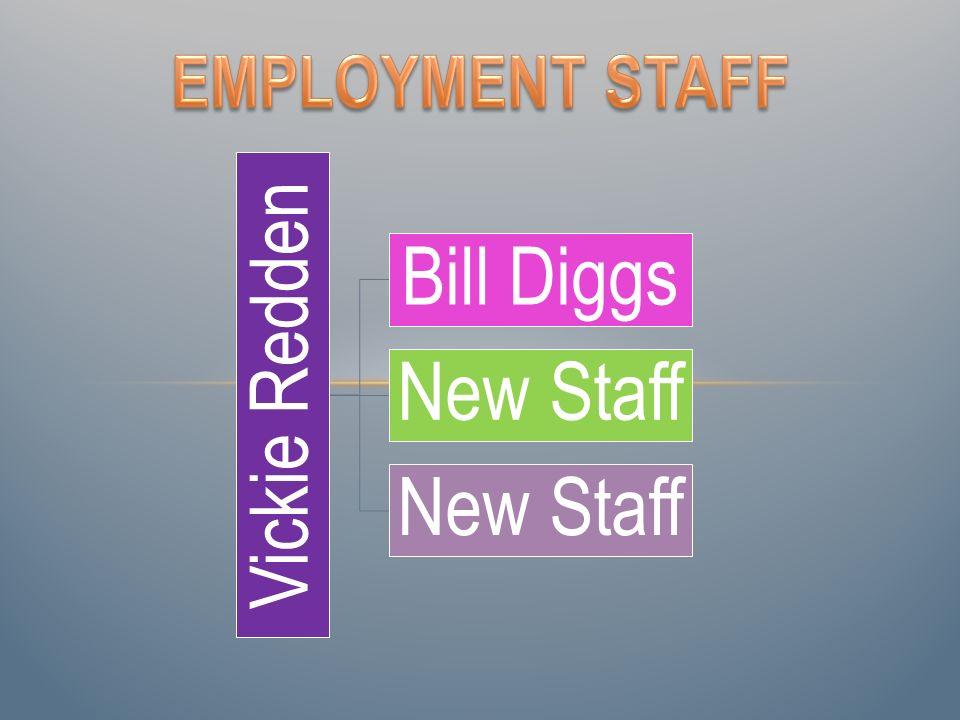 Vickie Redden Bill Diggs New Staff