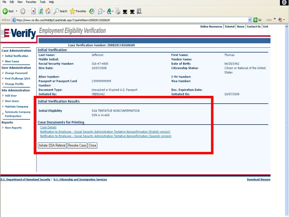 E-VERIFY PROGRAM12October 20, 2008
